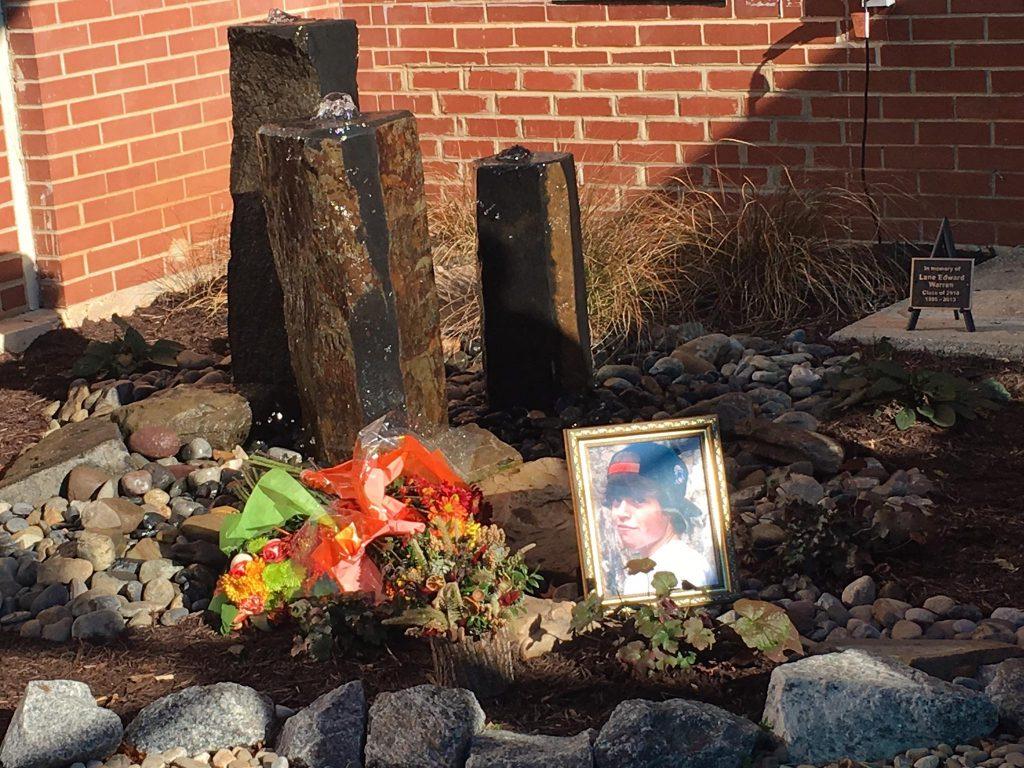Lane Warren memorial at MCHS